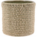 Ceramic bucket Danil, D19,5cm, H18cm, for TO16, gr